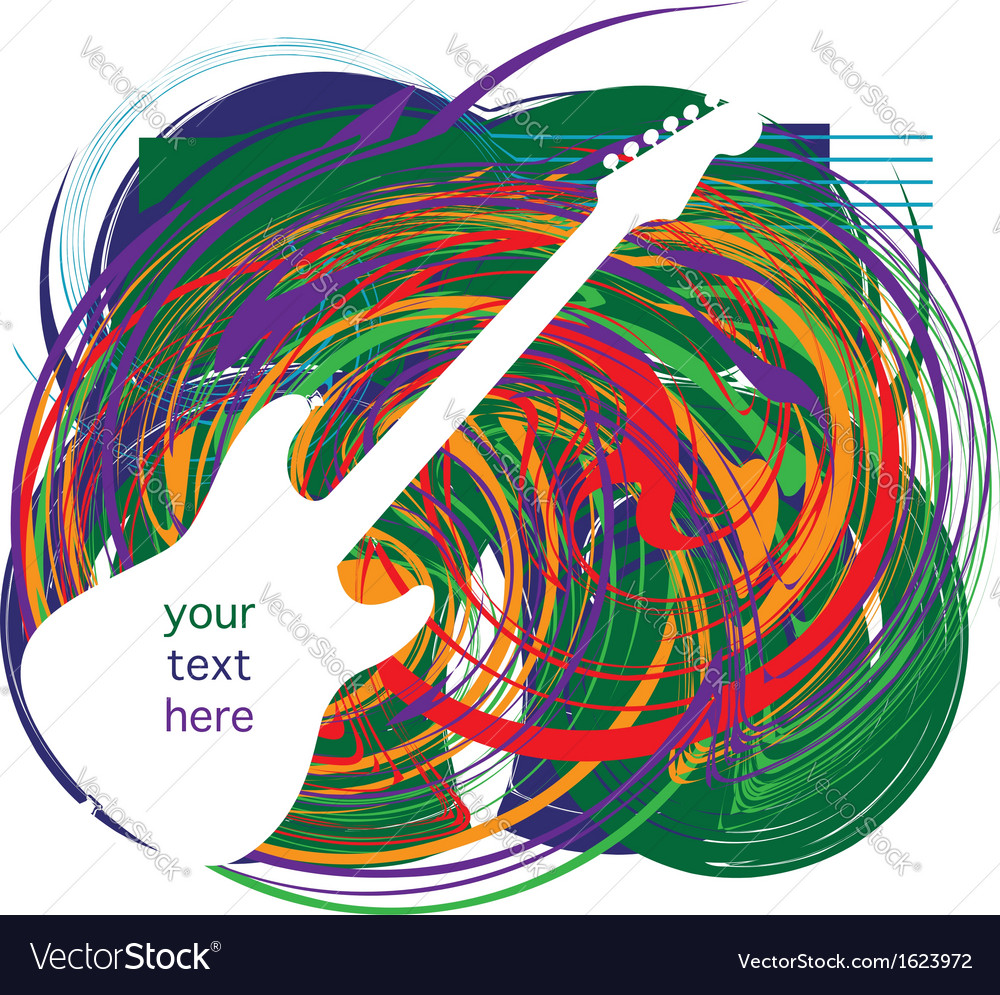 Electric guitar design vector   Price: 1 Credit (USD $1)