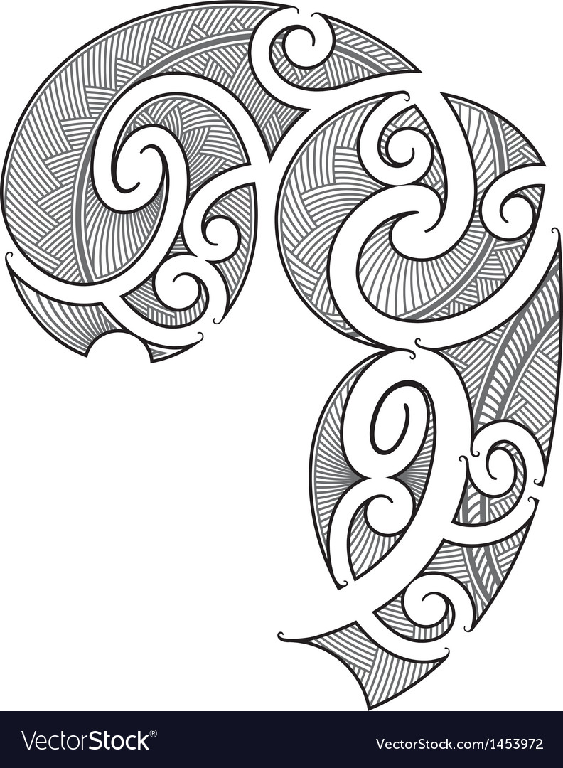 Maori tattoo design vector | Price: 1 Credit (USD $1)