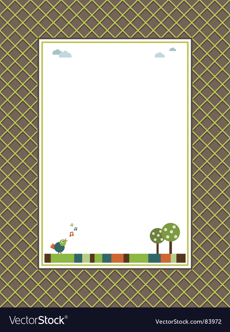 Nature frame vector | Price: 1 Credit (USD $1)