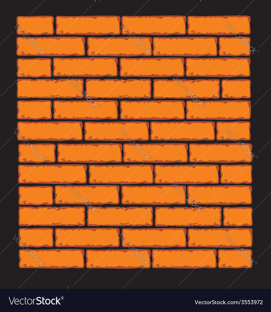 Orange brick wall clip art vector | Price: 1 Credit (USD $1)
