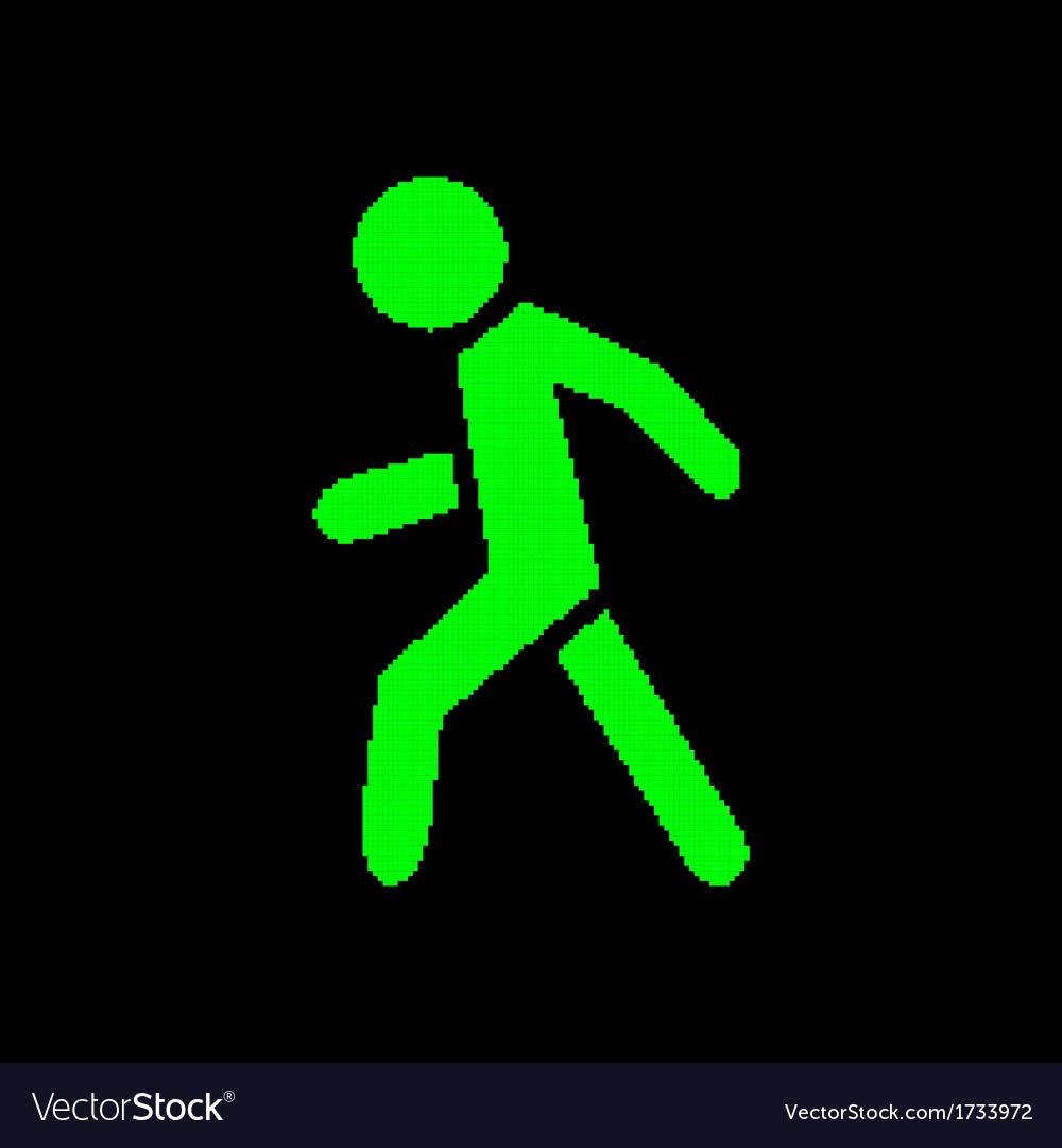 Pixel symbol pedestrian vector | Price: 1 Credit (USD $1)