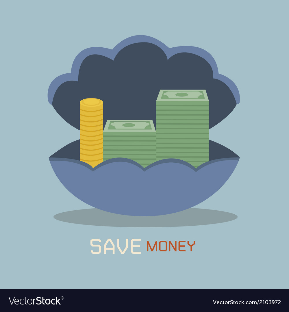 Save money on nacre concept vector | Price: 1 Credit (USD $1)