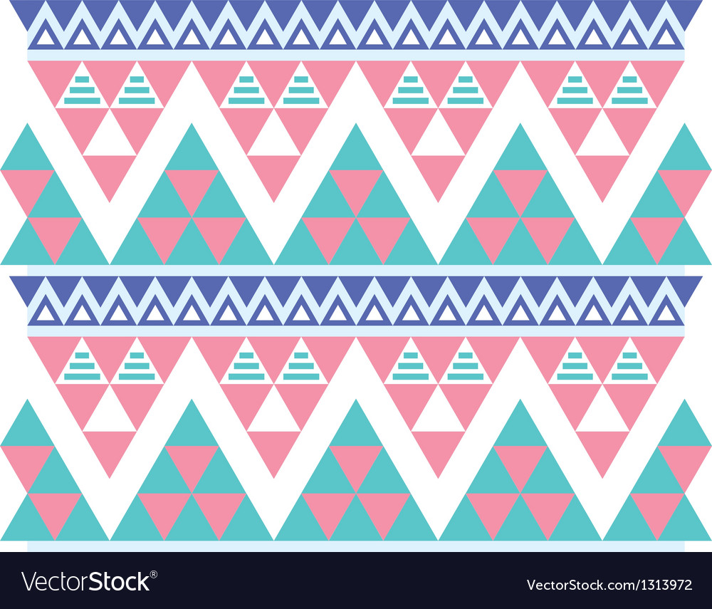 Tribal aztec colorful seamless pattern vector | Price: 1 Credit (USD $1)