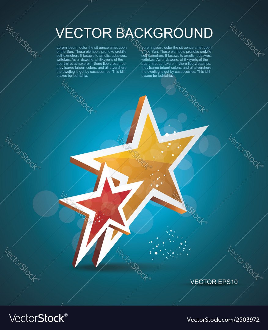 Two gold stars cinema background vector | Price: 1 Credit (USD $1)