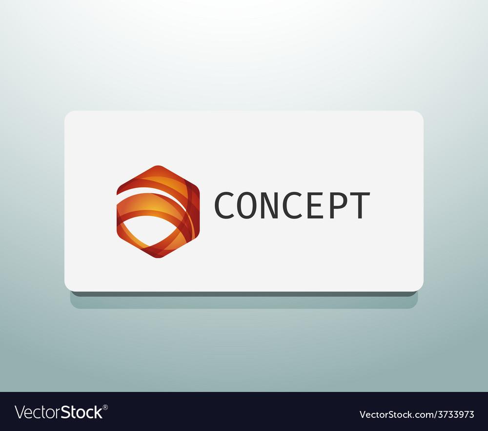 Abstract logo design wave shape hexagon vector   Price: 1 Credit (USD $1)