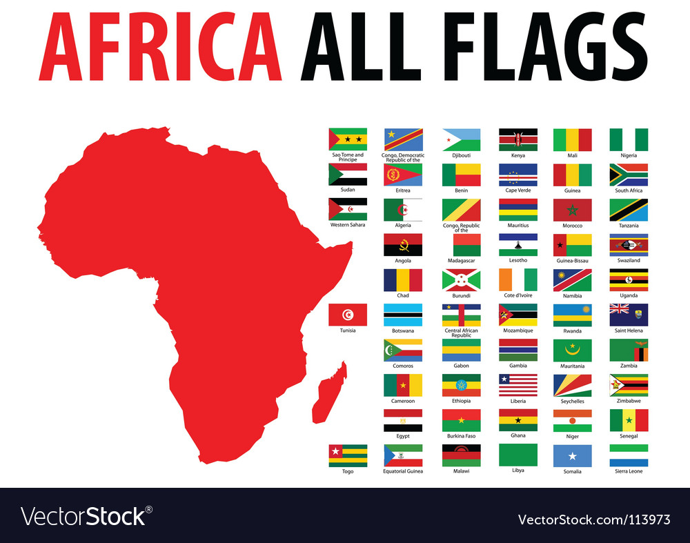 Africa all flags vector | Price: 1 Credit (USD $1)