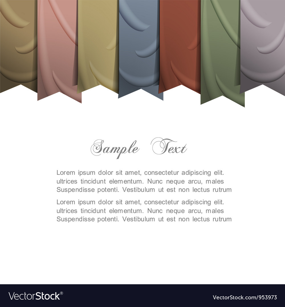 Background with silk ribbons vector | Price: 1 Credit (USD $1)