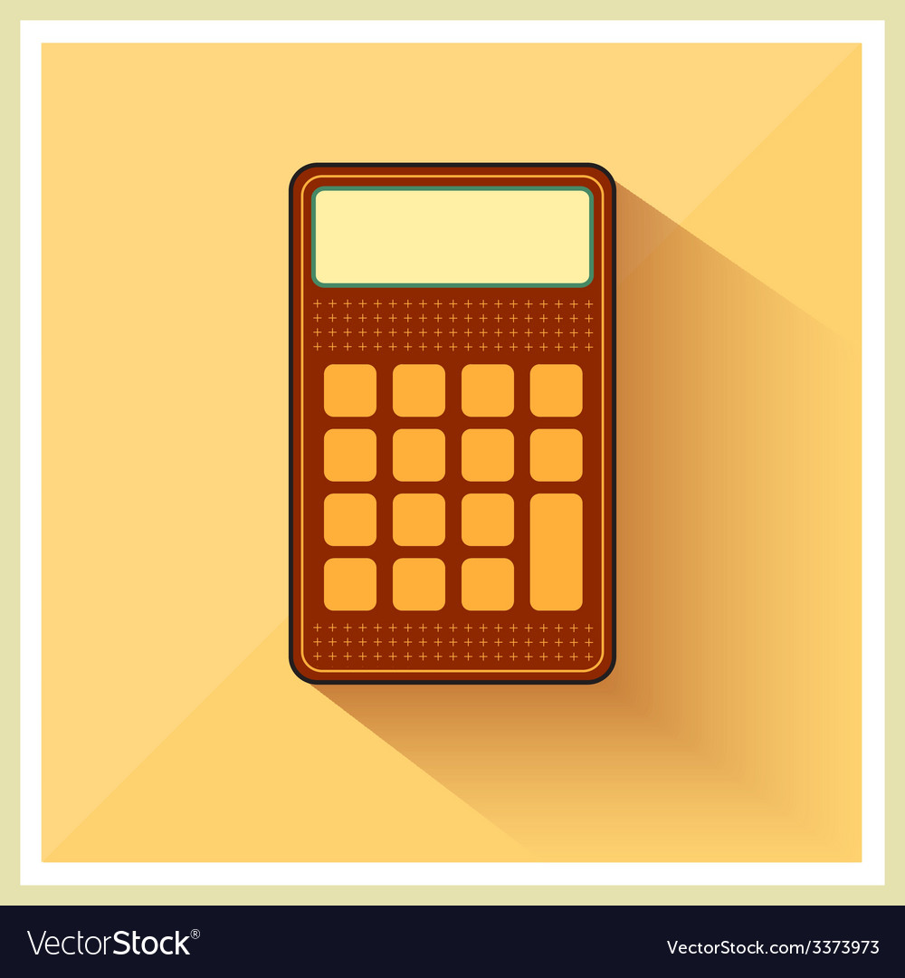 Classic finance accounting calculator flat icon vector | Price: 1 Credit (USD $1)