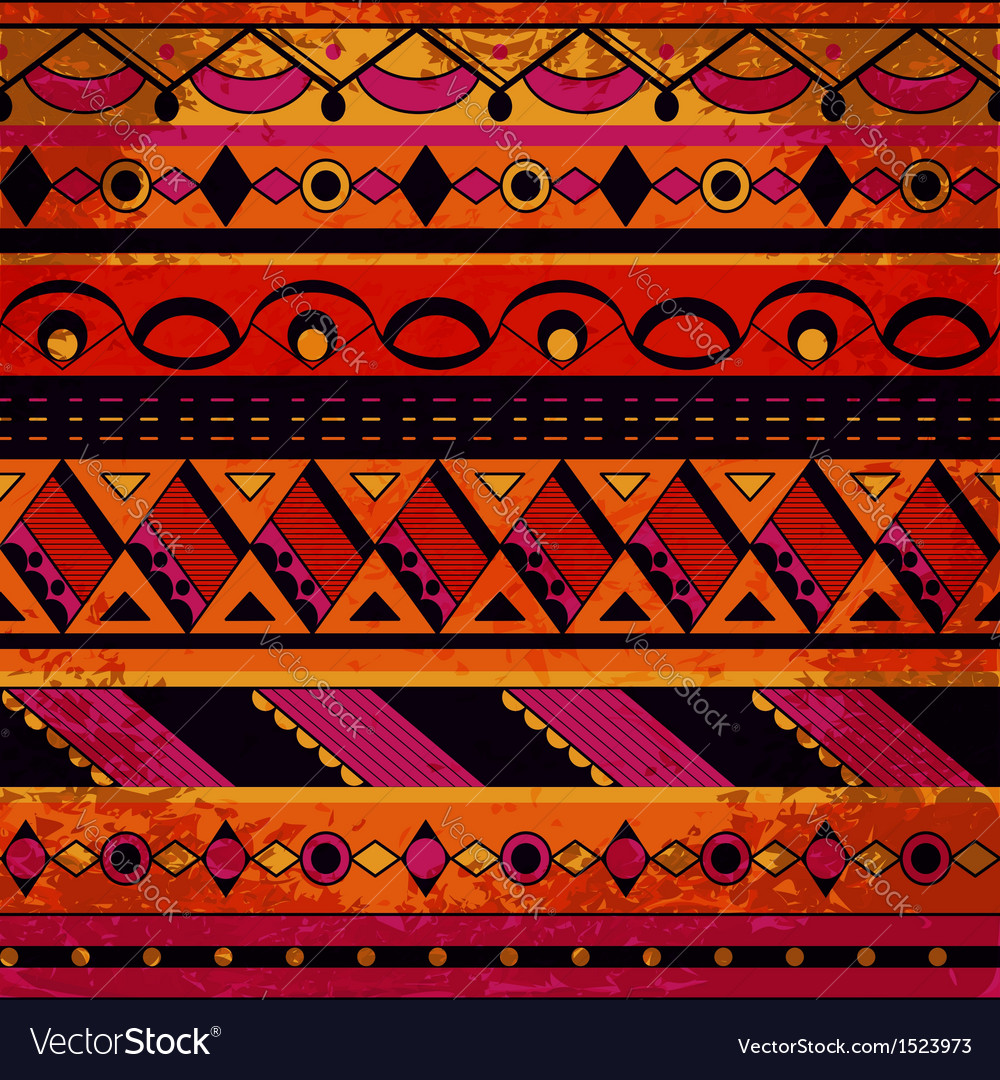 Grunge tribal pattern vector