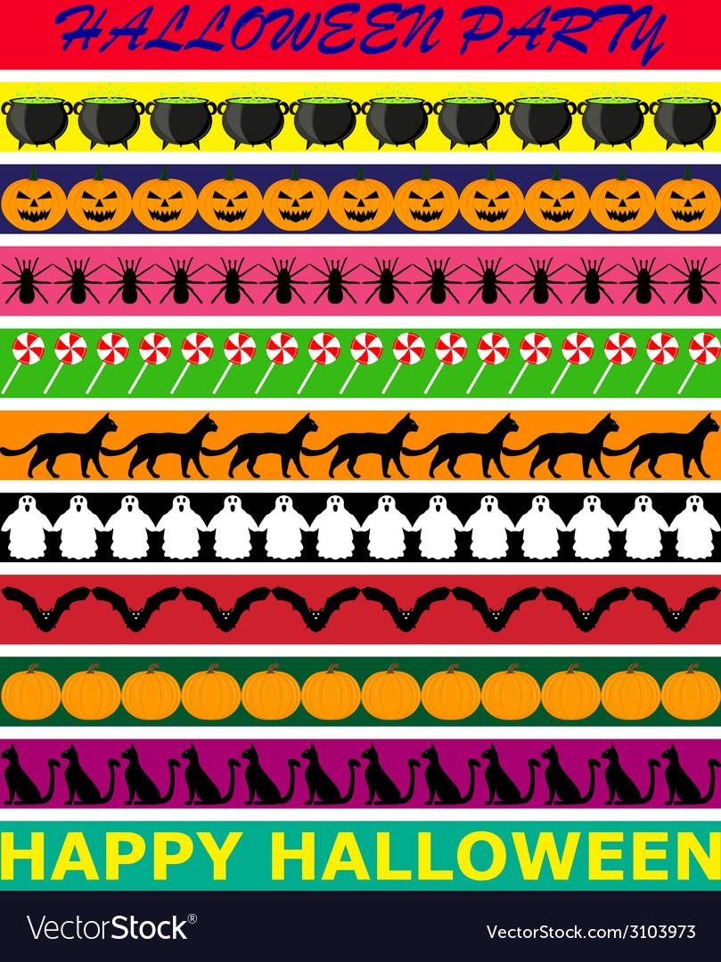 Halloween borders vector | Price: 1 Credit (USD $1)