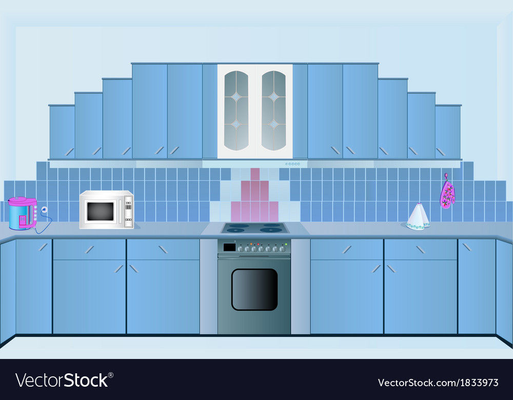 Interior of the kitchens vector | Price: 1 Credit (USD $1)