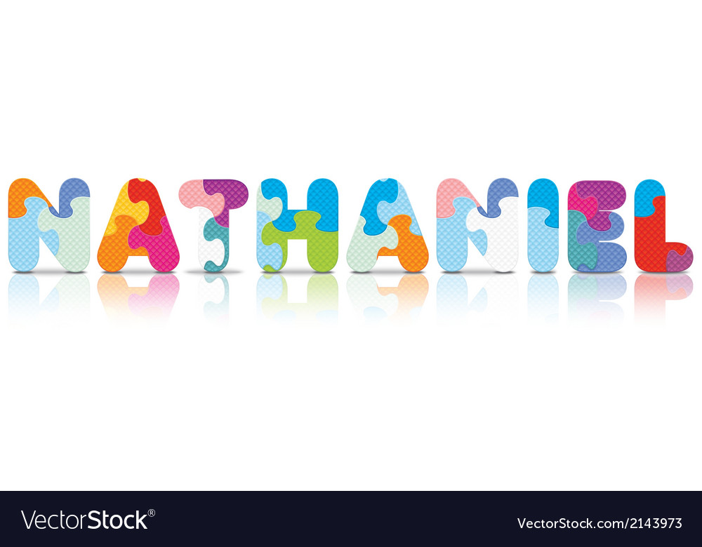 Nathaniel written with alphabet puzzle vector | Price: 1 Credit (USD $1)