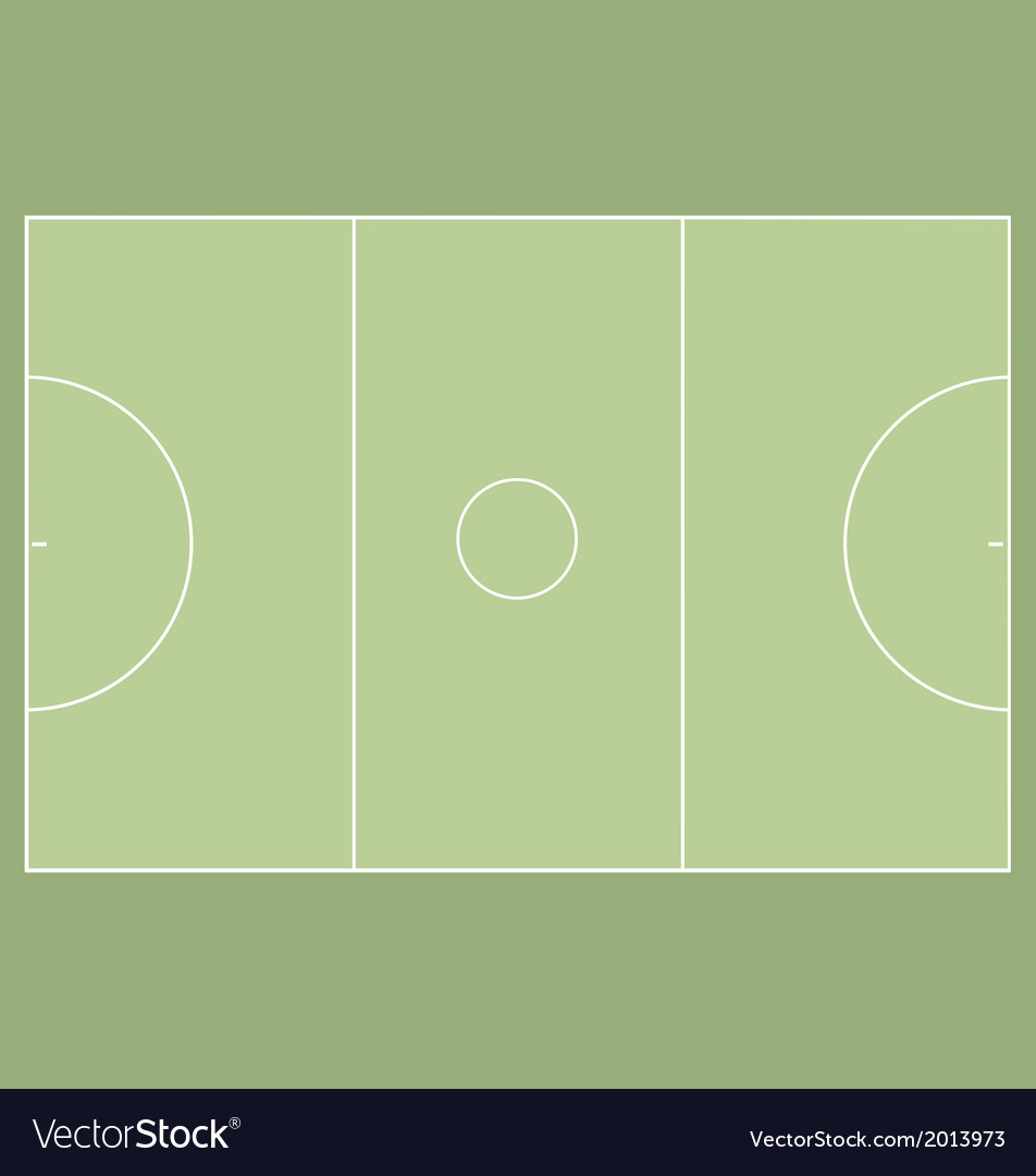 Netball court vector | Price: 1 Credit (USD $1)