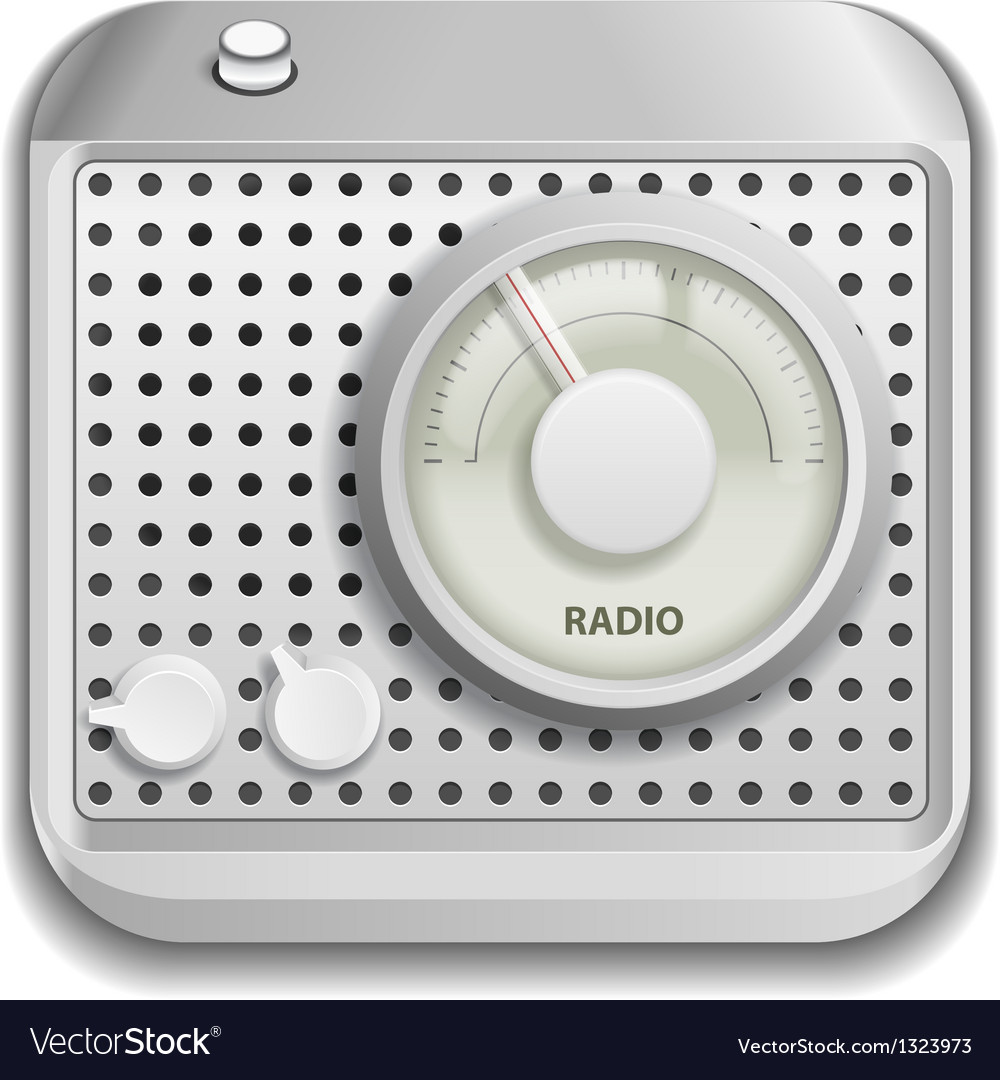 Radio app icon vector | Price: 3 Credit (USD $3)