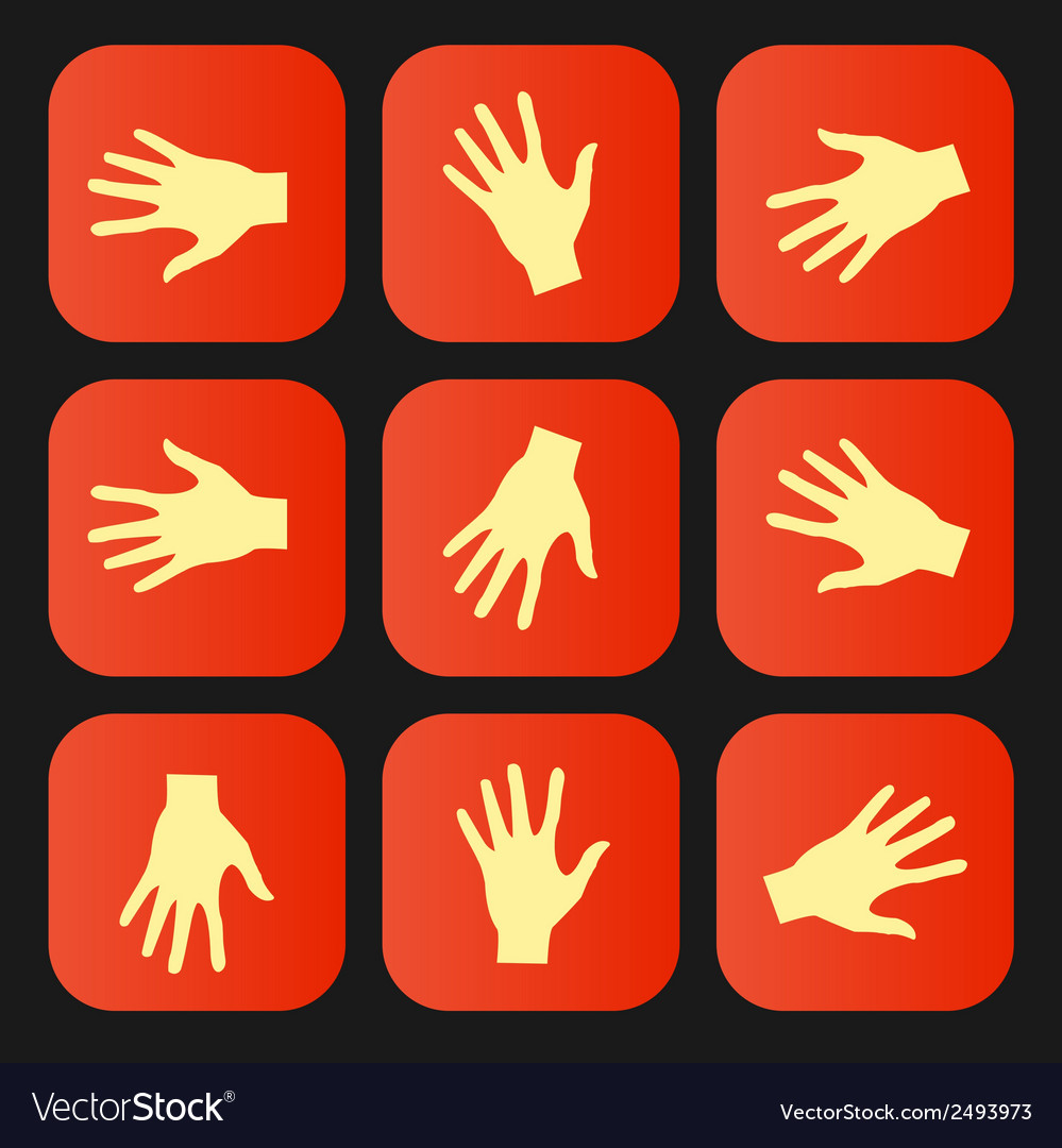 Set of flat icon hands eps vector | Price: 1 Credit (USD $1)