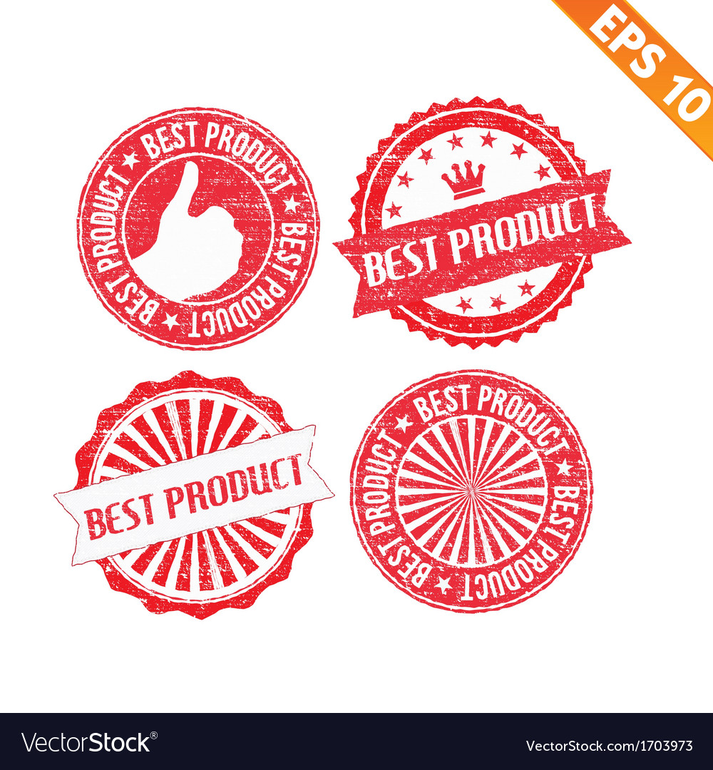 Stamp sticker best product collection - - e vector | Price: 1 Credit (USD $1)