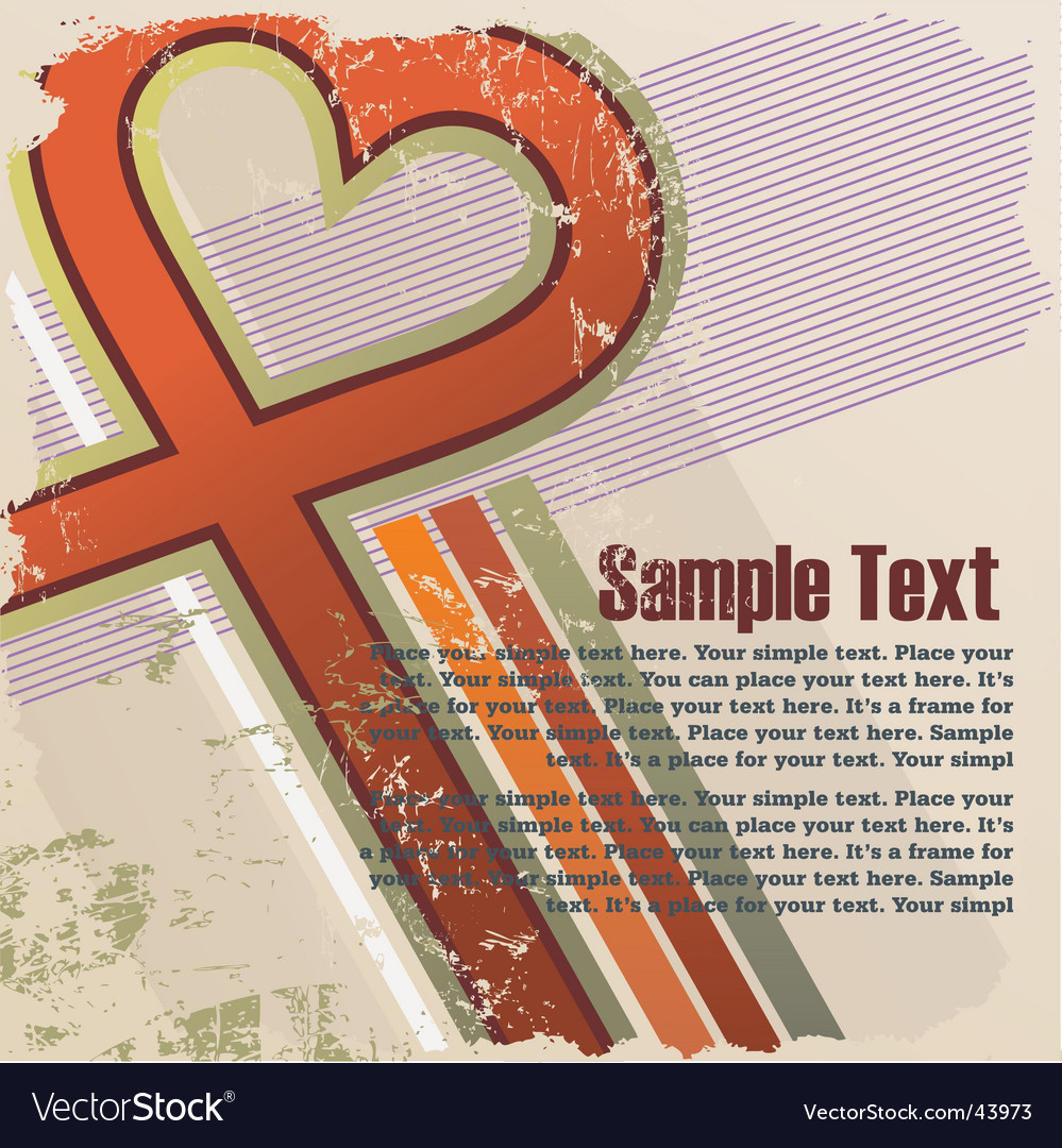 Valentines grunge background vector | Price: 1 Credit (USD $1)