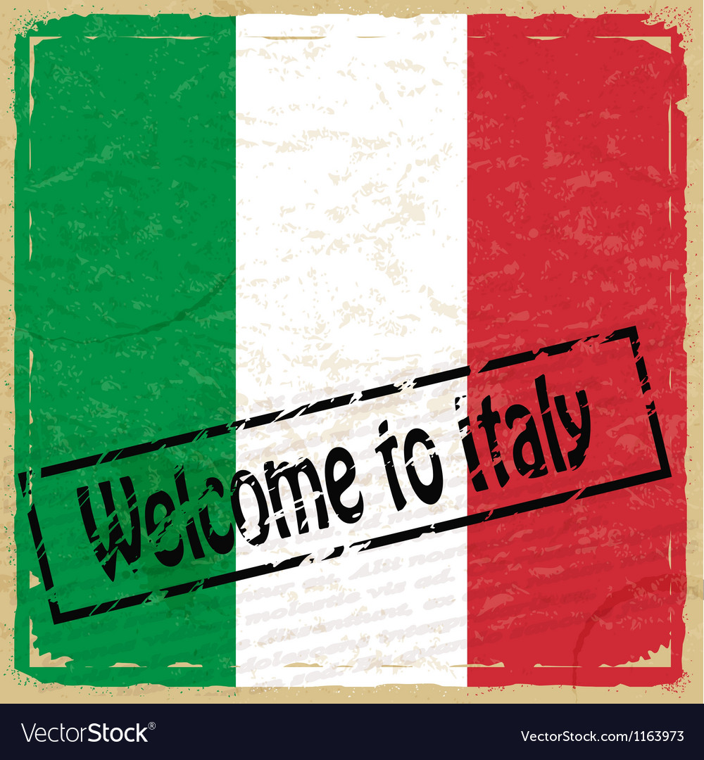 Vintage background with flag of italy vector | Price: 1 Credit (USD $1)