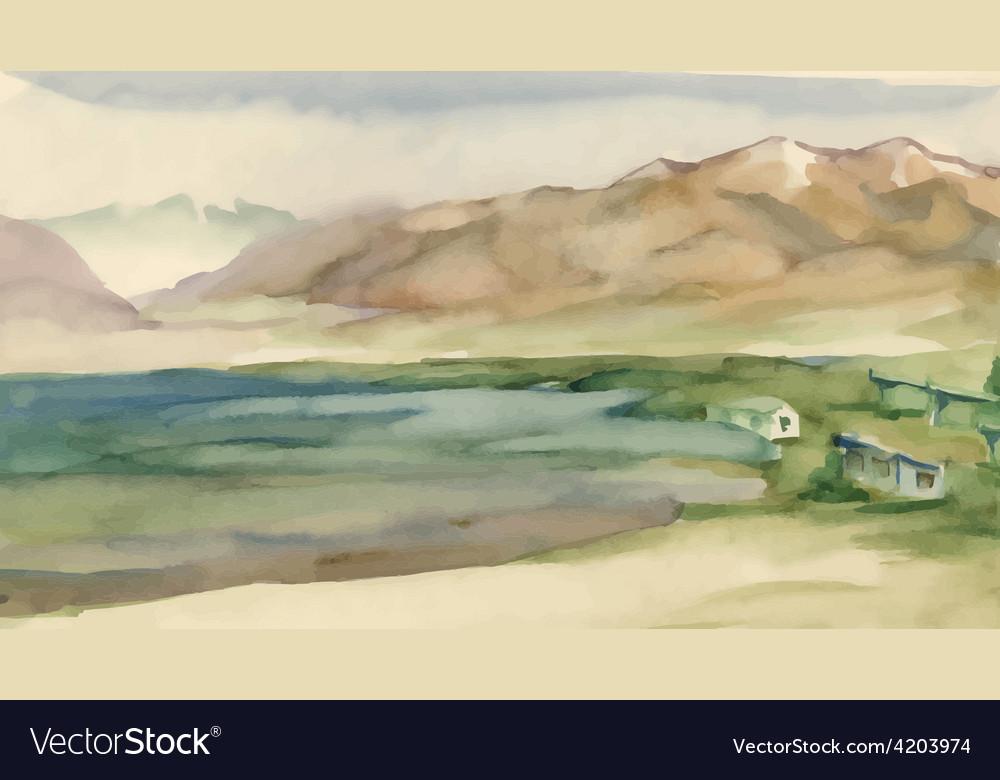 Artistic landscape design vector | Price: 3 Credit (USD $3)