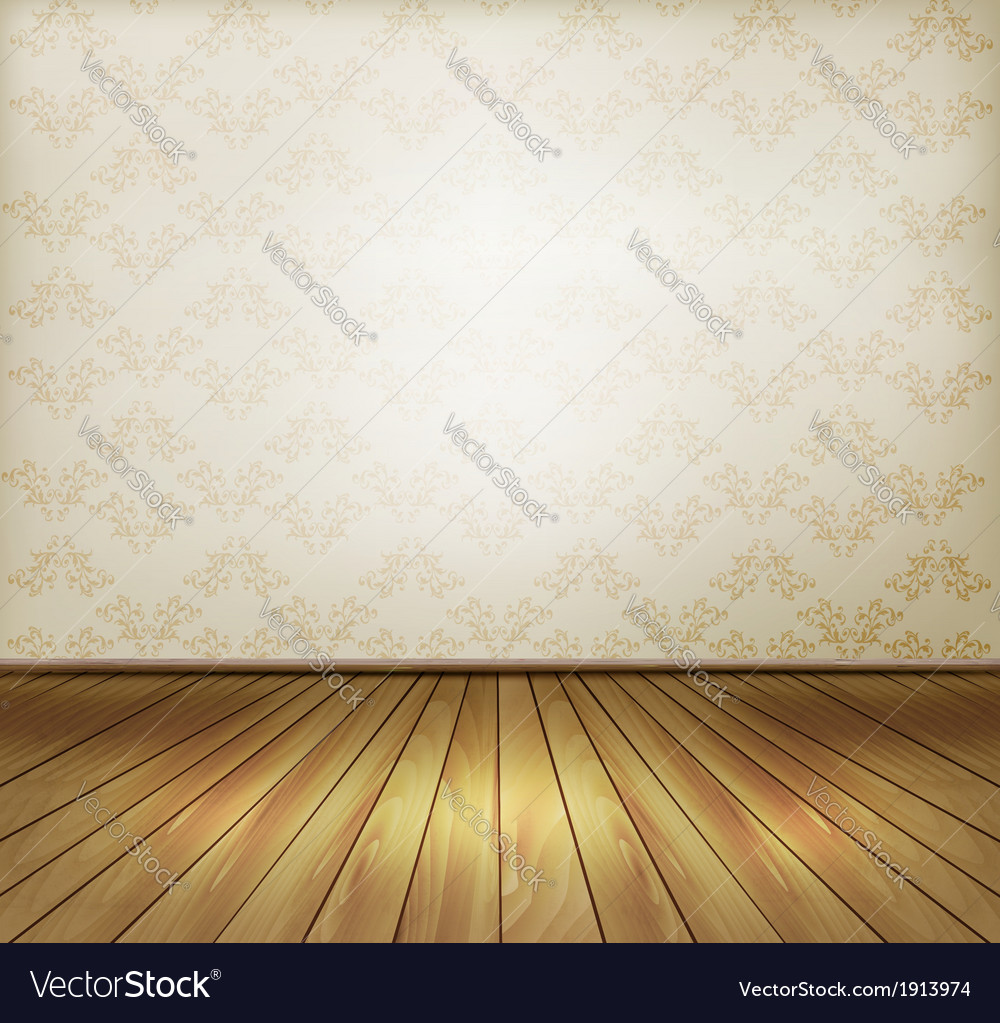 Background with old wall and a wooden floor vector | Price: 1 Credit (USD $1)
