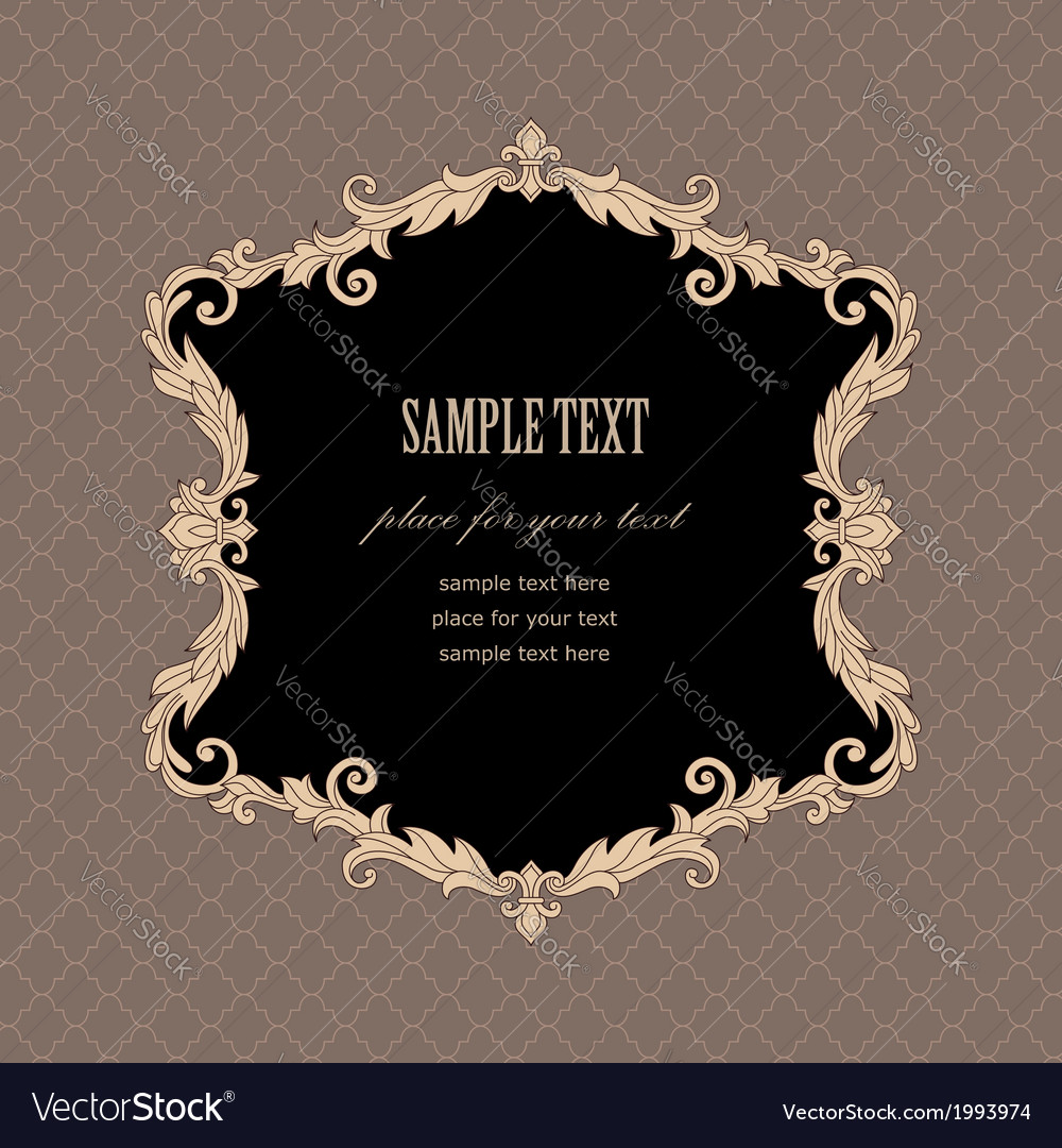 Baroque frame retro vector | Price: 1 Credit (USD $1)