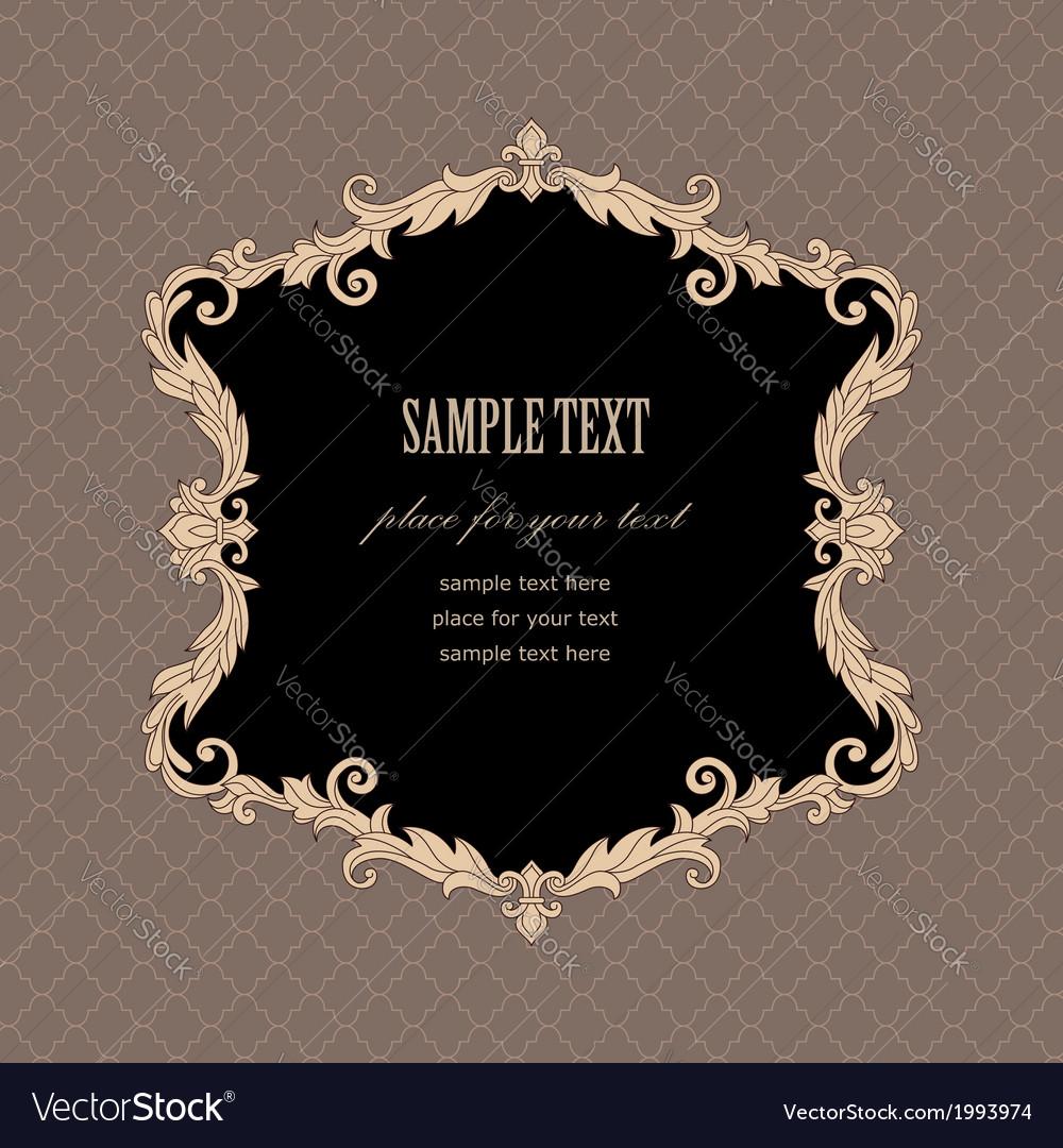 Baroque frame retro vector | Price: 1 Credit (USD $1)