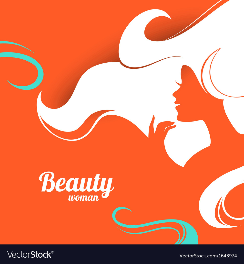 Beautiful fashion woman silhouette paper design vector | Price: 1 Credit (USD $1)