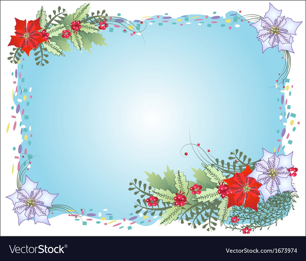 Blue christmas background with confetti vector | Price: 1 Credit (USD $1)