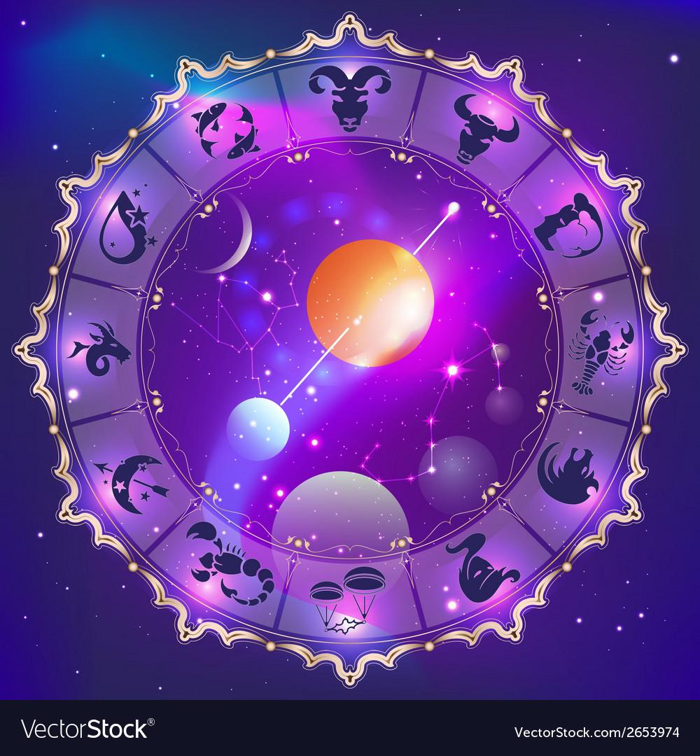 Horoscope circle vector | Price: 1 Credit (USD $1)