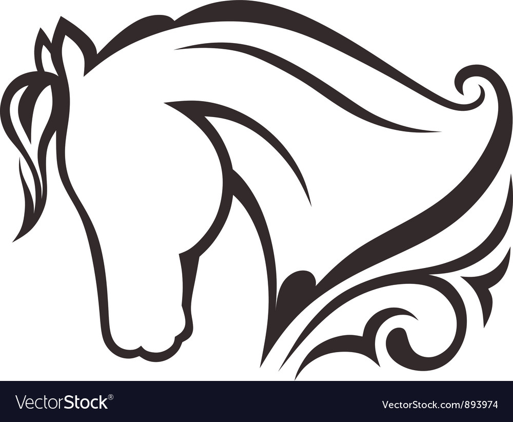 Horse silhouette vector