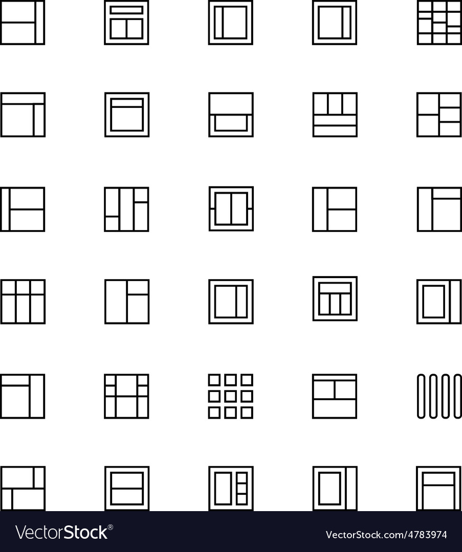 Layout line icons 4 vector | Price: 1 Credit (USD $1)