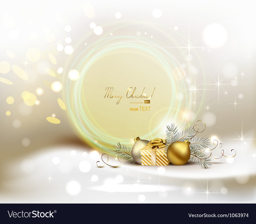 Light christmas background vector | Price: 1 Credit (USD $1)