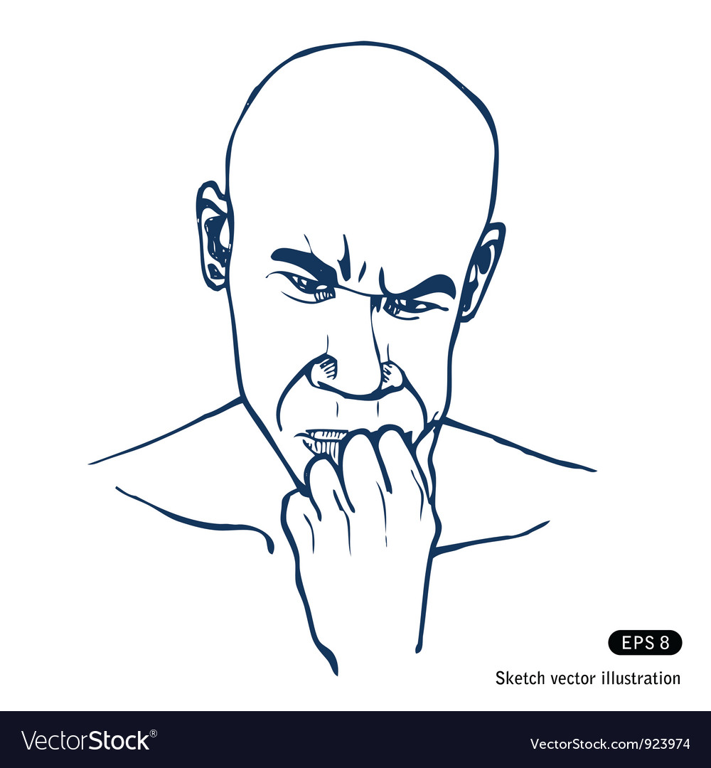Man thinking about a problem vector | Price: 1 Credit (USD $1)