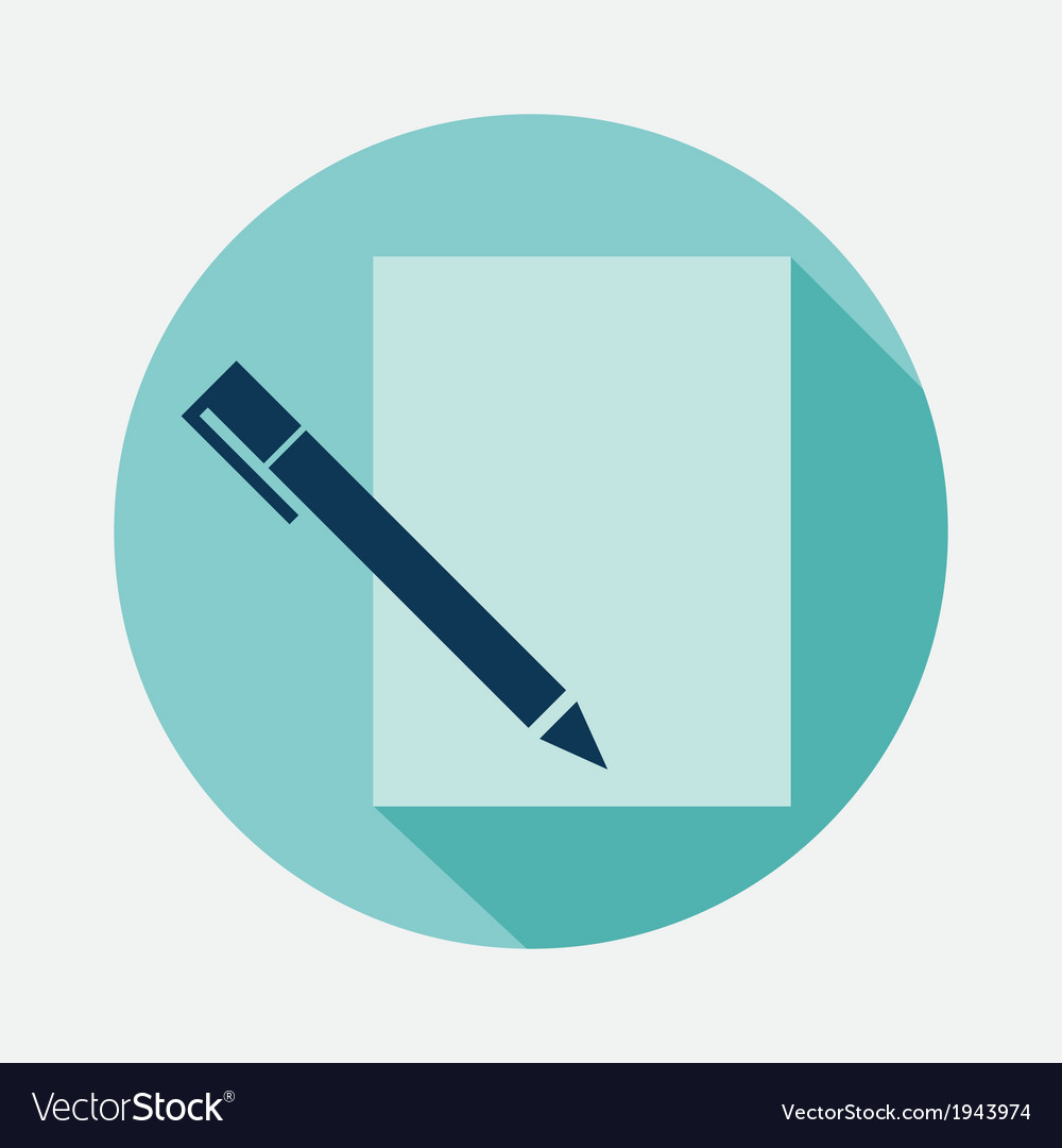 Pen and paper vector | Price: 1 Credit (USD $1)