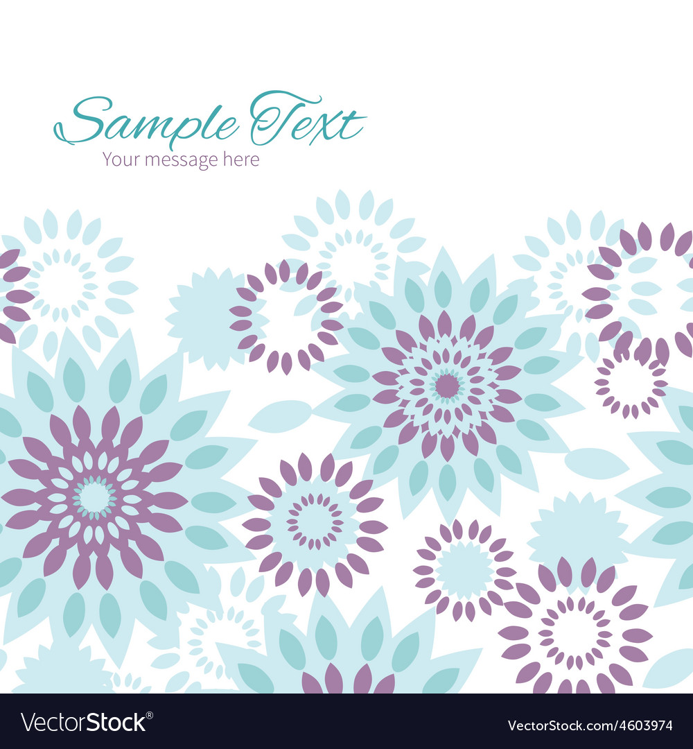 Purple and blue floral abstract horizontal vector | Price: 1 Credit (USD $1)