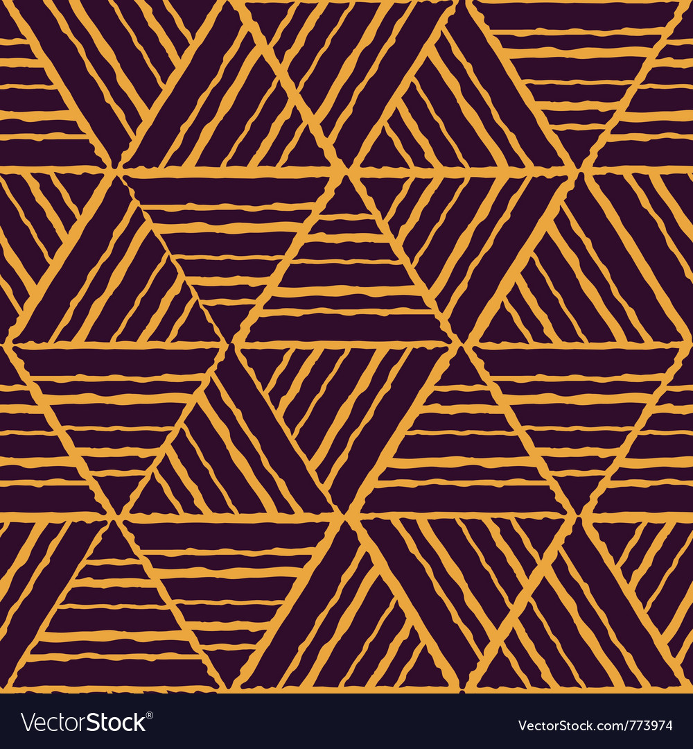 Seamless yellow geometric pattern vector | Price: 1 Credit (USD $1)