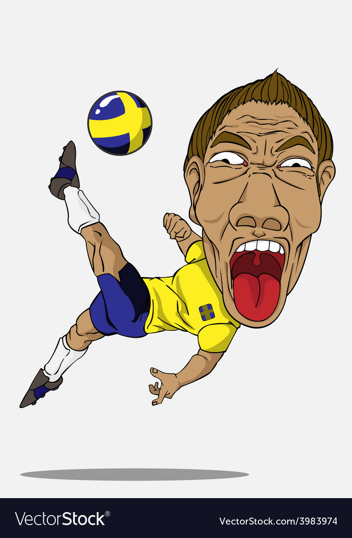 Soccer player sweden vector | Price: 1 Credit (USD $1)