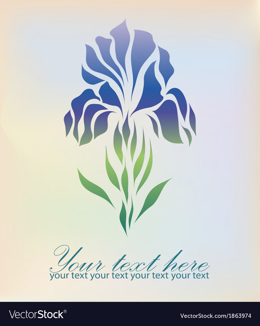 Vintage hand drawing iris vector | Price: 1 Credit (USD $1)