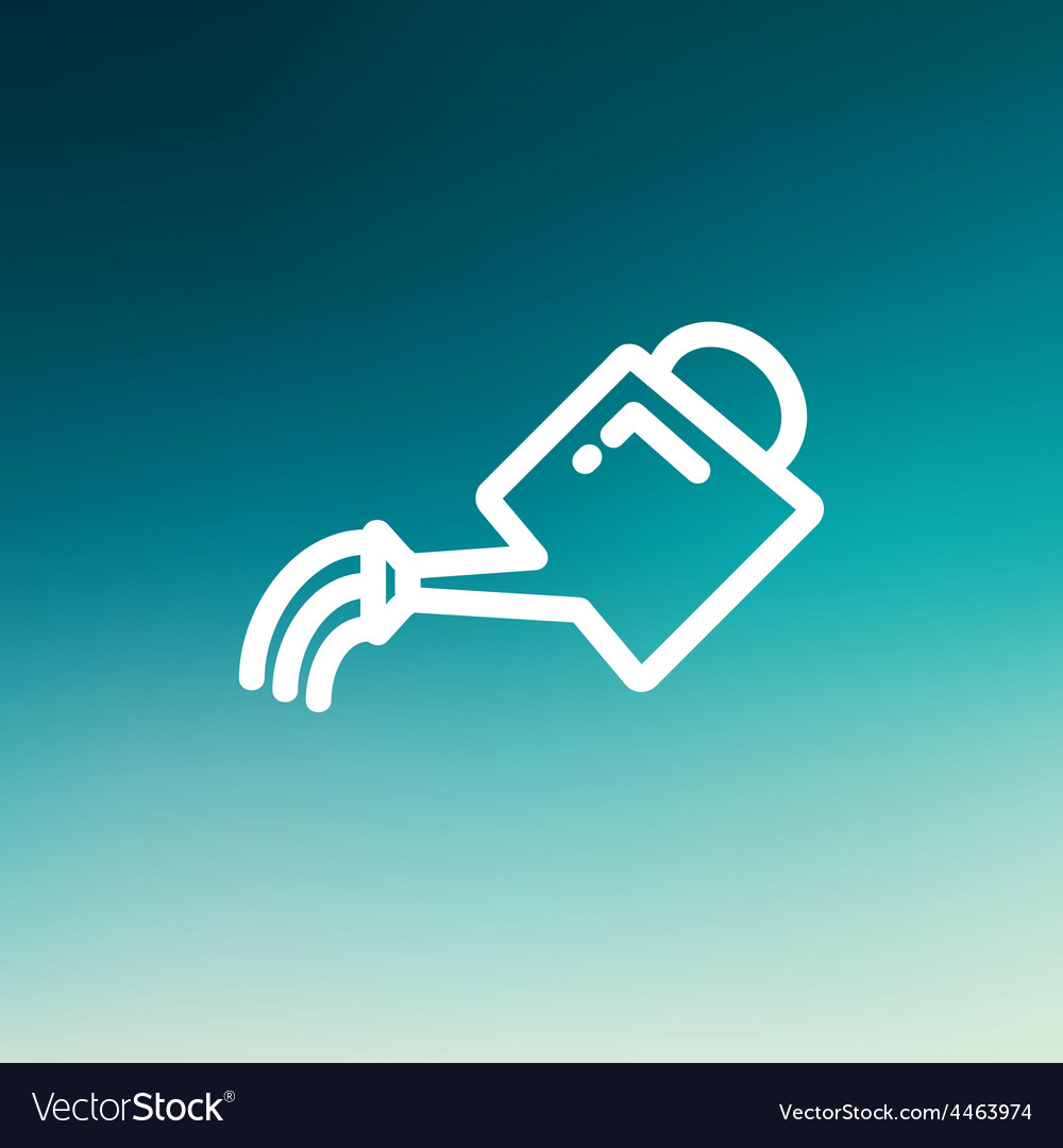 Watering can thin line icon vector | Price: 1 Credit (USD $1)