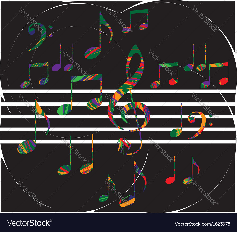 Abstract music note vector | Price: 1 Credit (USD $1)