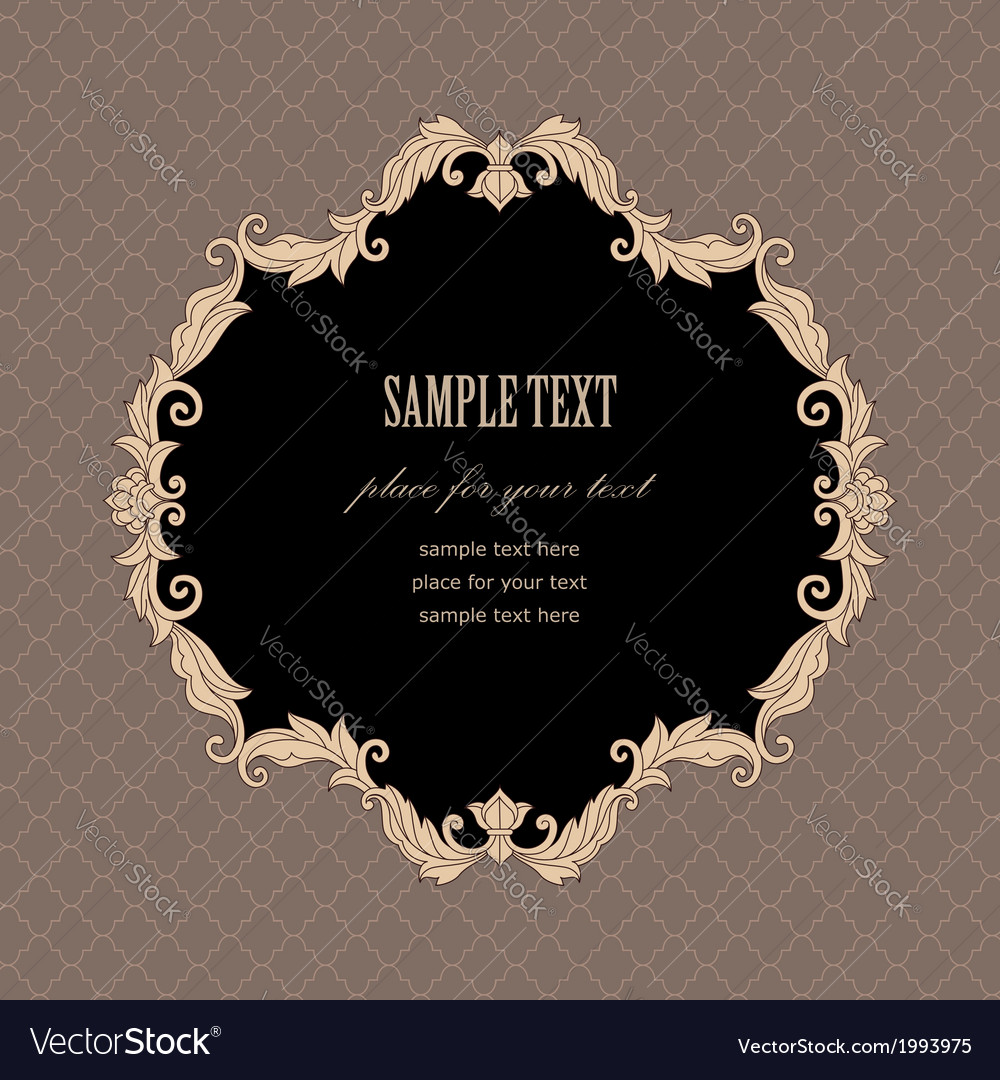 Baroque frame vintage vector | Price: 1 Credit (USD $1)