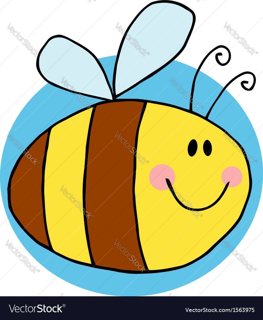 Cartoon bee vector | Price: 1 Credit (USD $1)