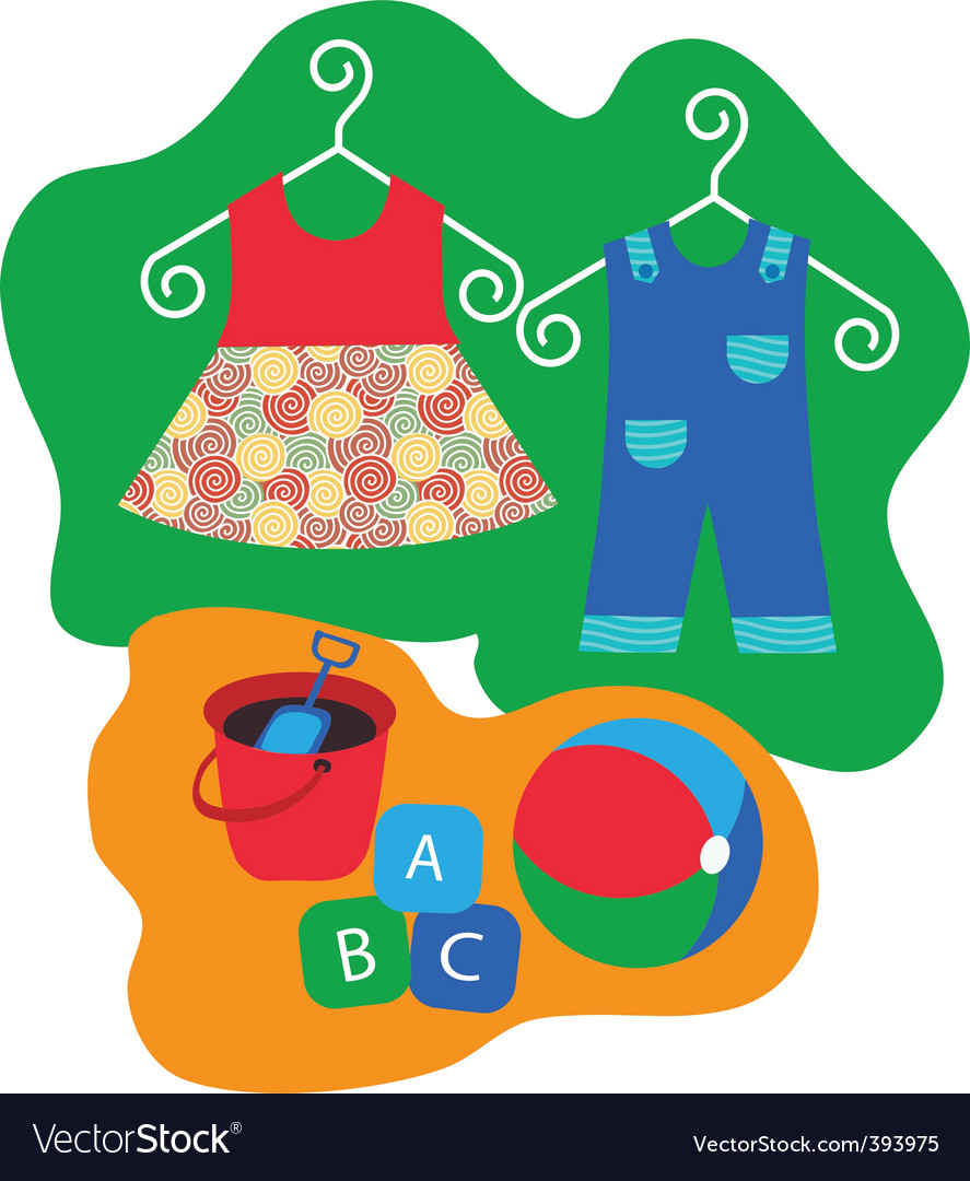 Childrens clothing vector | Price: 1 Credit (USD $1)