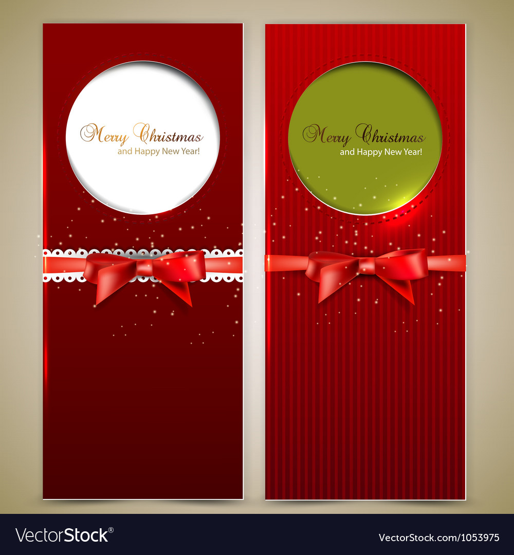 Elegant christmas invitation cards template vector | Price: 1 Credit (USD $1)