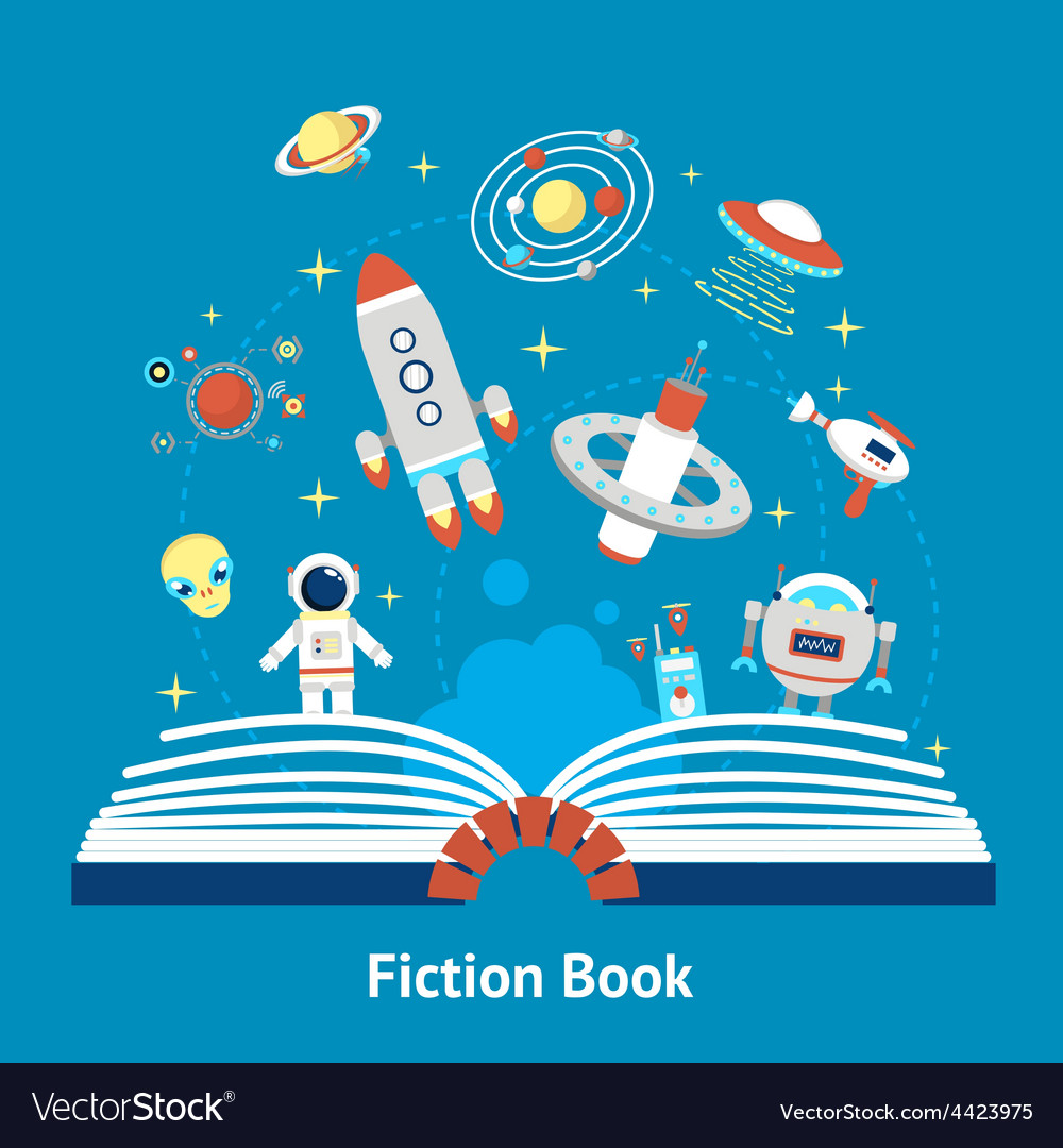 Fiction book vector