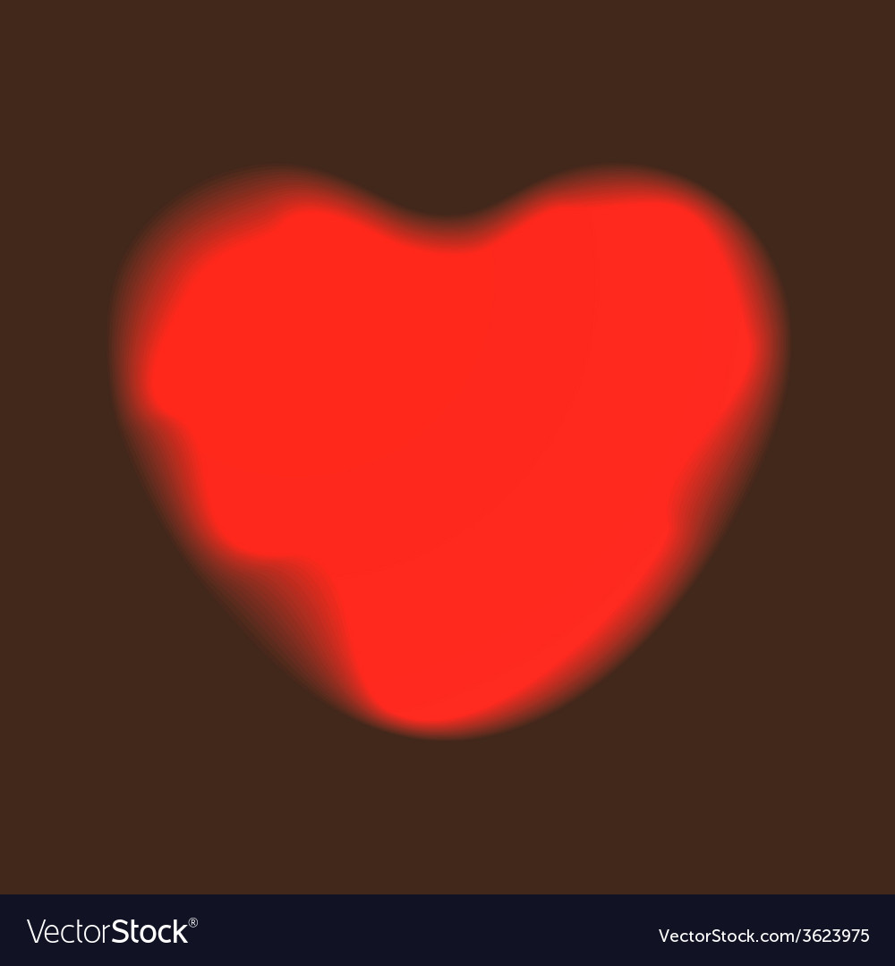 Heart red shape on dark background vector | Price: 1 Credit (USD $1)