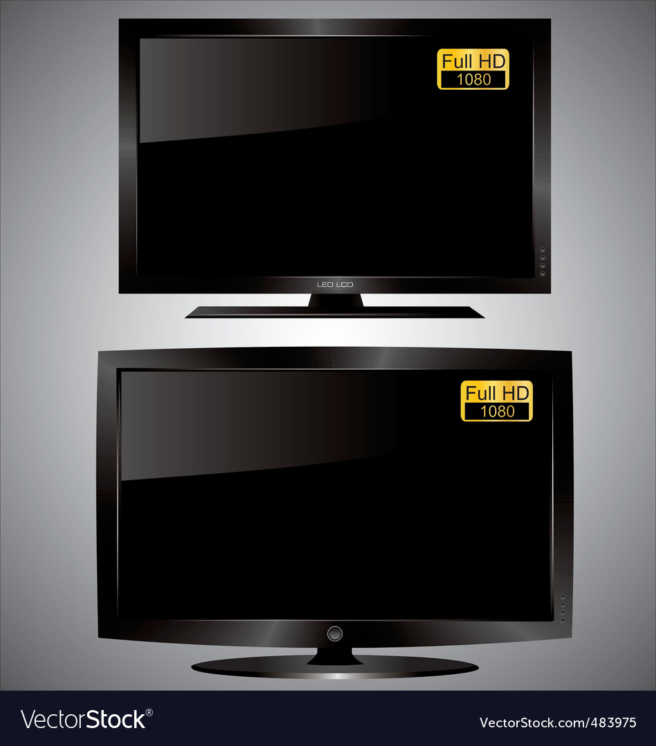 Led lcd tv vector | Price: 1 Credit (USD $1)