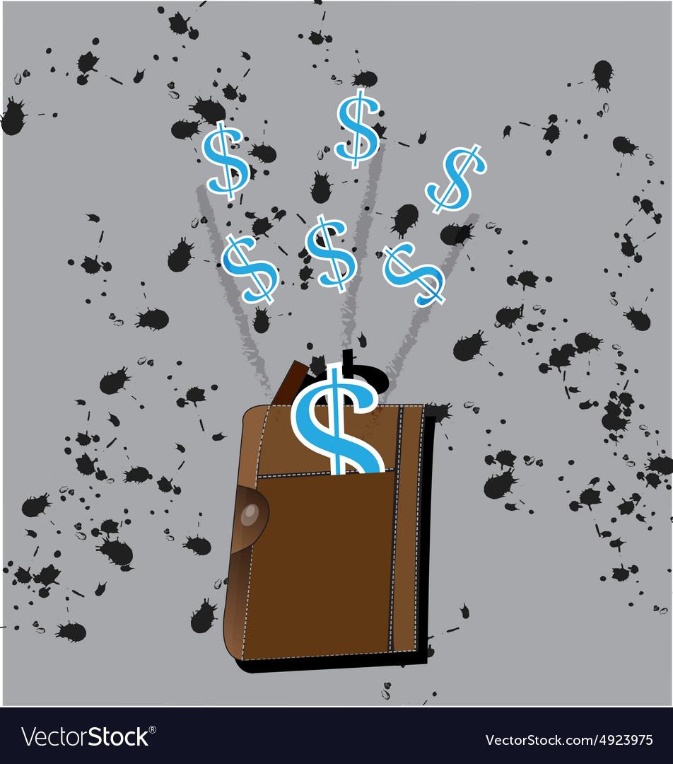 Money dollar icon income design vector