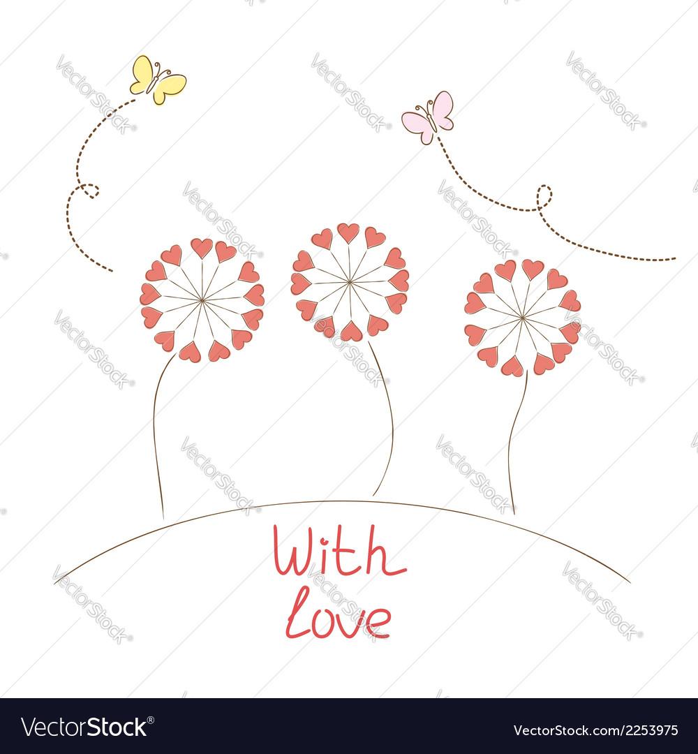 Romantic flowers vector | Price: 1 Credit (USD $1)