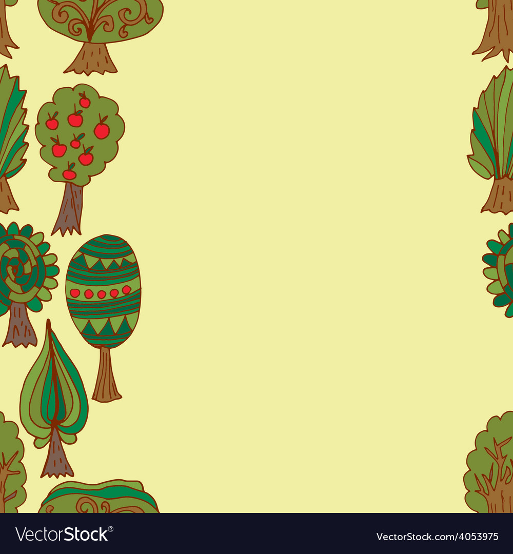 Seamless hand-drawn border pattern with doodle vector   Price: 1 Credit (USD $1)